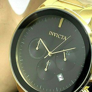 Invicta Mens Watch 29480 Specialty Black Dial Gold